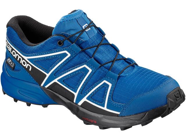 Salomon Speedcross CSWP Shoes Kinder indigo bunting/sky diver/white